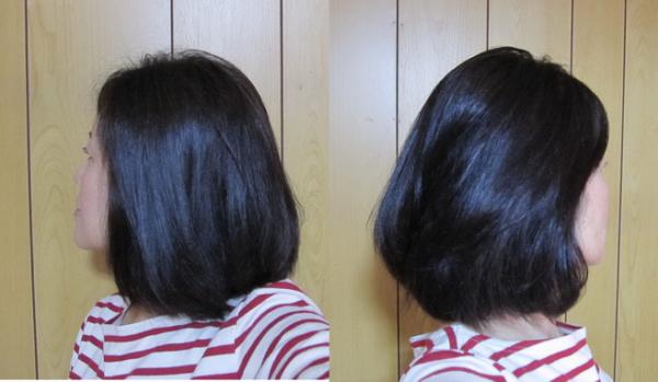 ヘアビューロン使用後 髪ツヤ