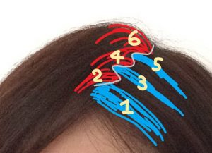 薄毛を隠す髪の分け方